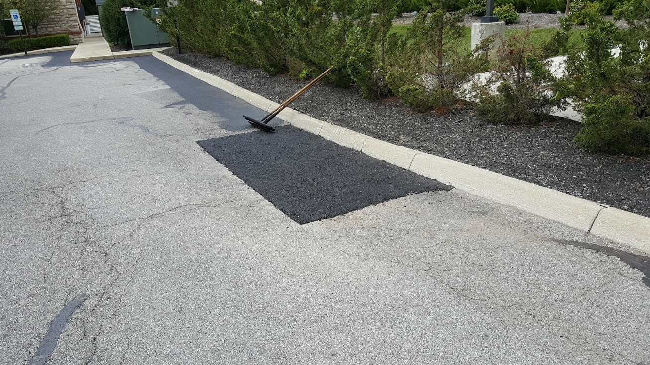 Cutout Replaced With New Asphalt
